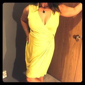 NWOT Trina Turk Yellow Wraparound Dress